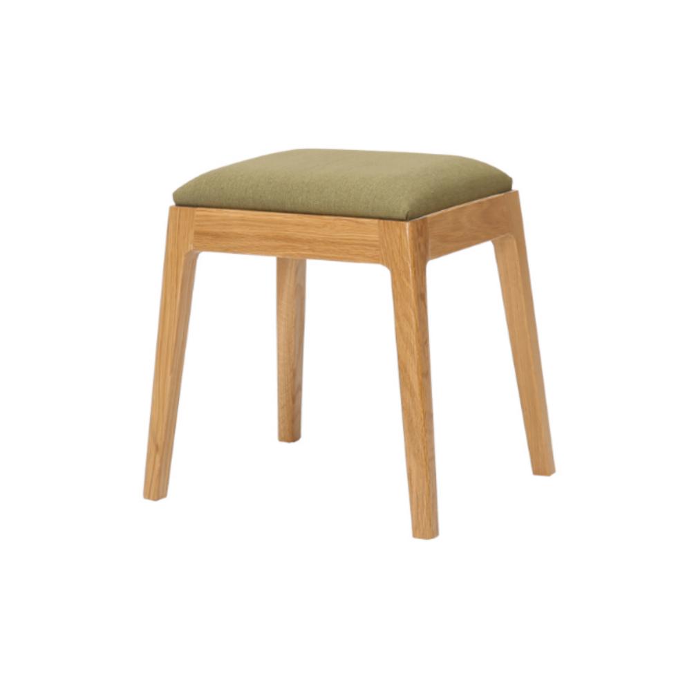生活本白橡木妆凳/凳子/矮凳W012