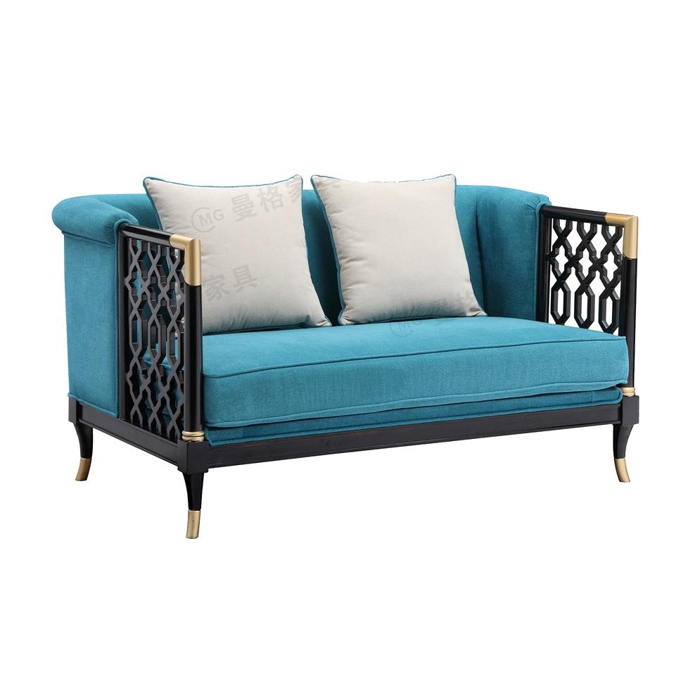 曼格新中式双人沙发R-A01