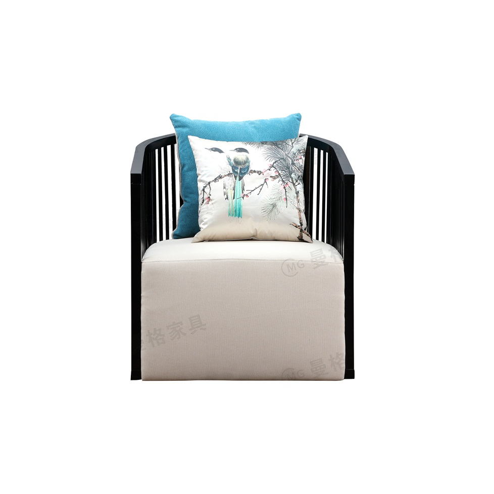 曼格新中式单人沙发/单椅R-A07