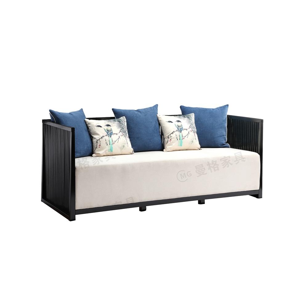 曼格新中式三人沙发/多人沙发R-A07