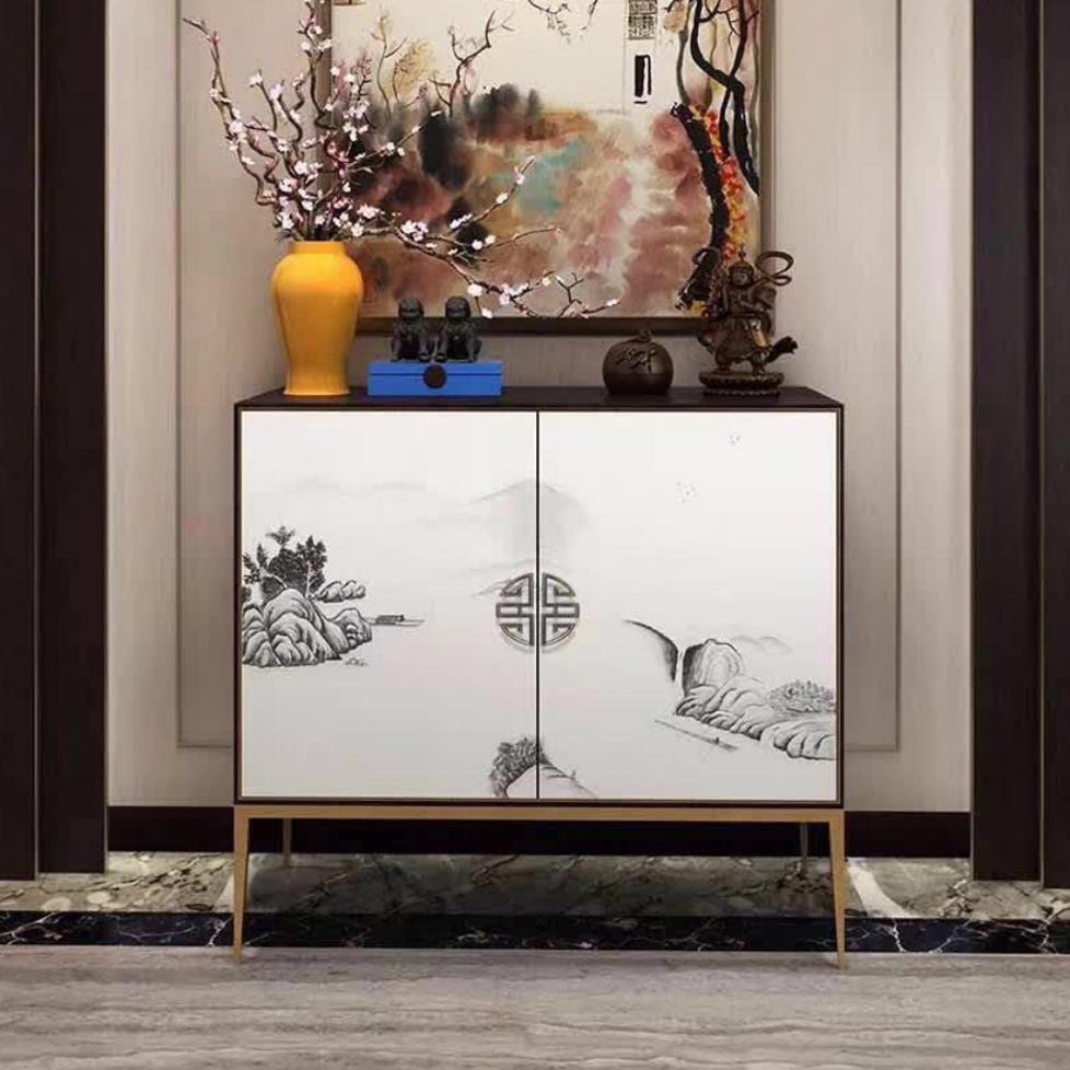 曼格新中式两门柜/装饰柜R-G181