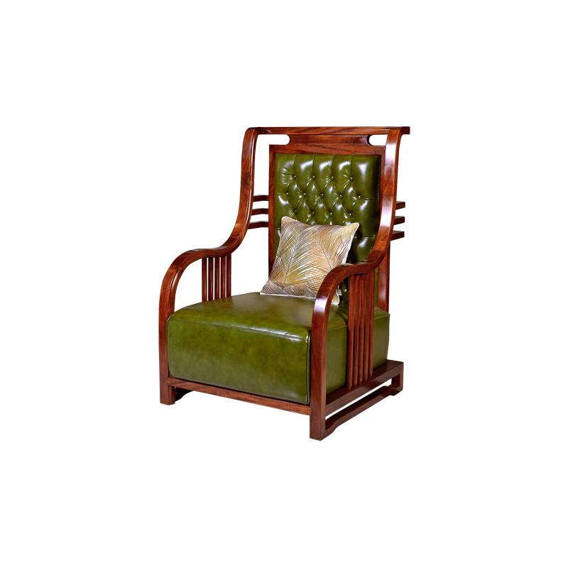 宝居乐新中式阑廷苑休闲椅/单椅/单人沙发TL611