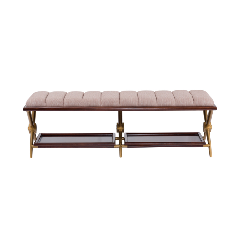 宝居乐美式轻奢TP222床尾凳