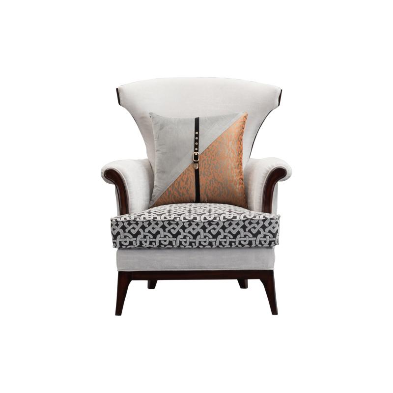 宝居乐美式轻奢TP222休闲椅