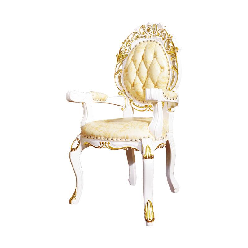 宝居乐欧式橡白公馆二代扶手餐椅X213