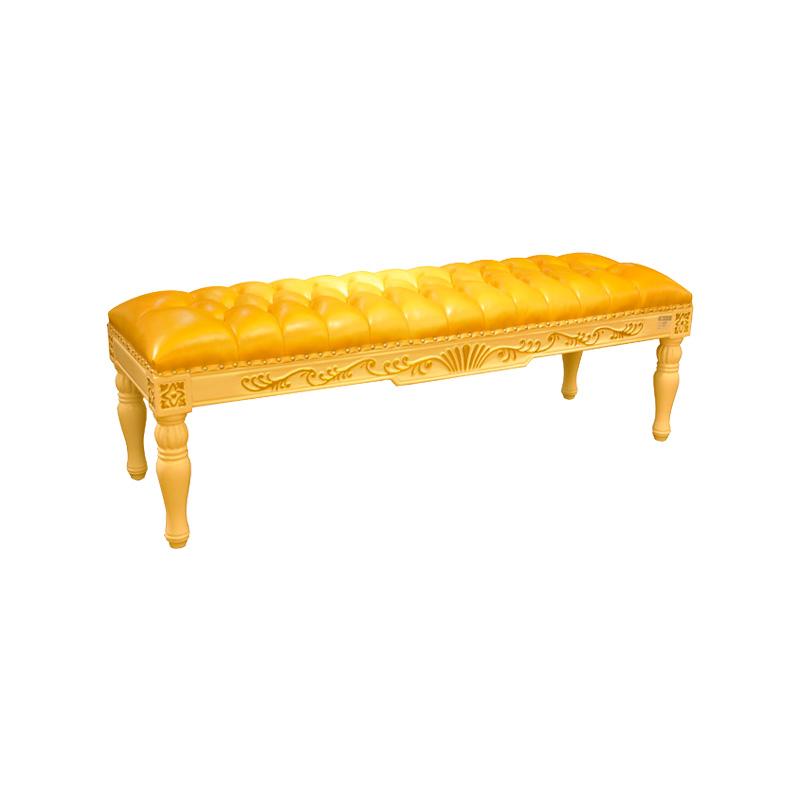 宝居乐欧式橡白公馆二代床尾凳X219