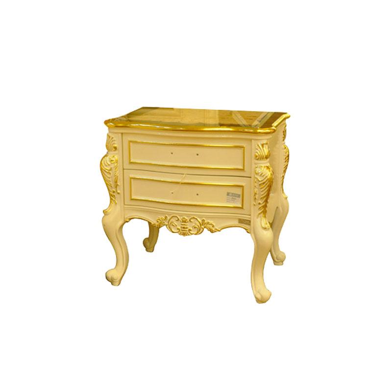 宝居乐欧式橡白公馆二代木面床头柜X219