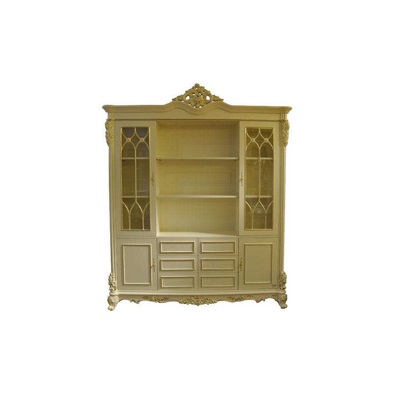 宝居乐欧式橡白公馆二代书柜X219