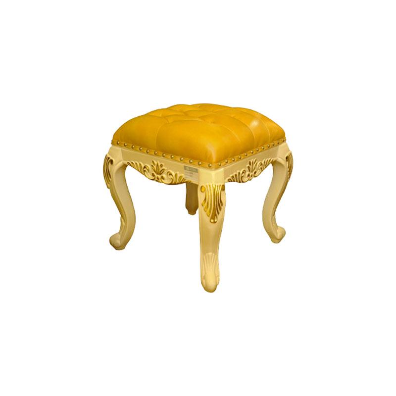 宝居乐欧式橡白公馆二代梳妆凳X219