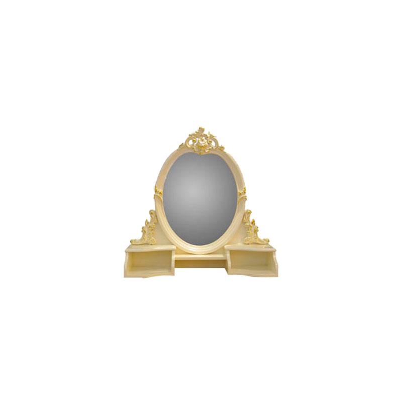 宝居乐欧式橡白公馆二代梳妆镜X219