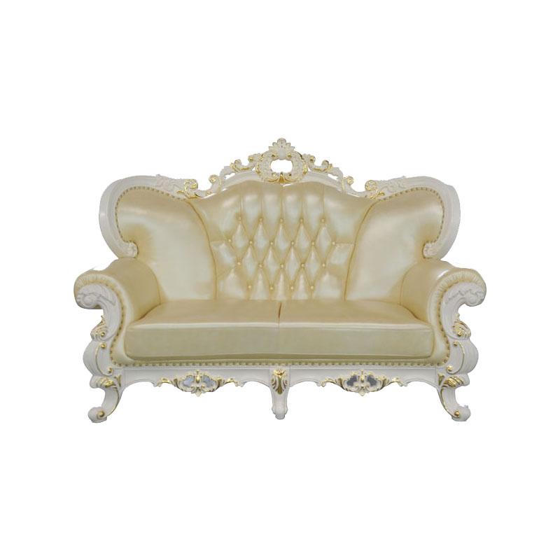 宝居乐欧式橡白公馆二代两人位沙发X220