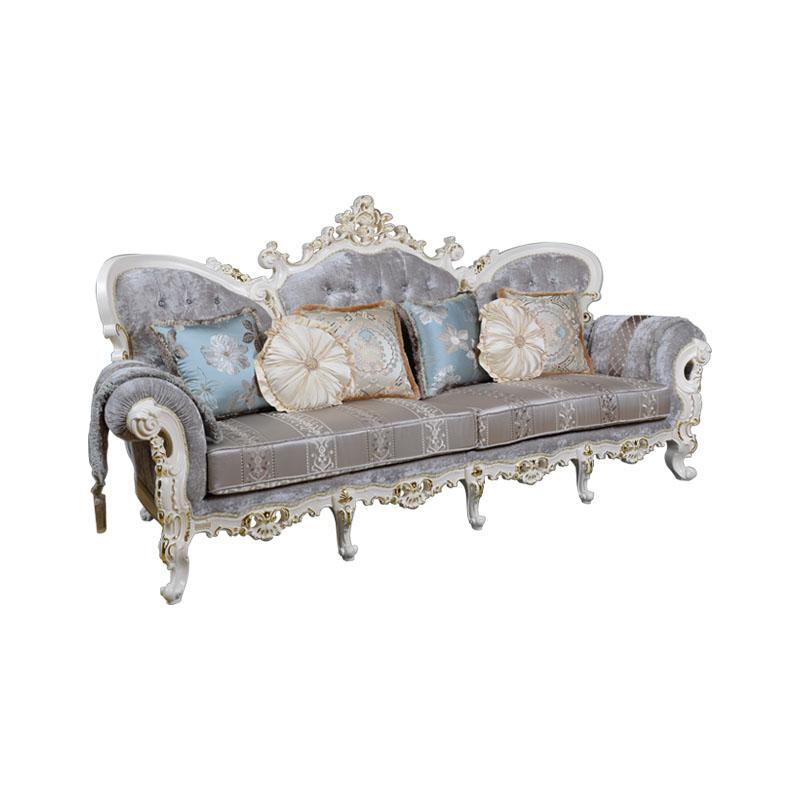 宝居乐欧式橡白公馆二代沙发四位X223