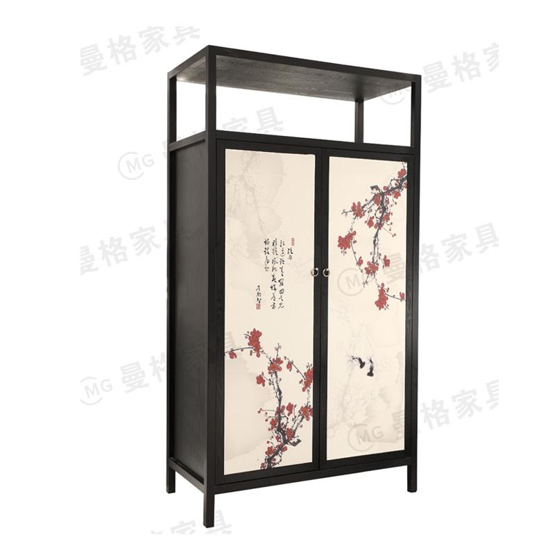 曼格家具新中式衣柜R-W05