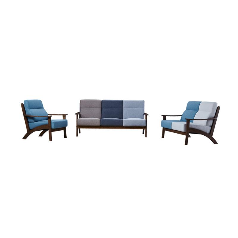富牌家具现代休闲M2实木布艺沙发