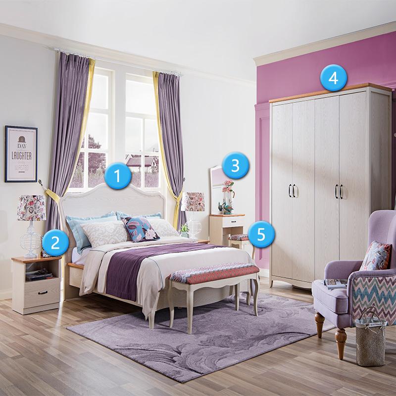 森盛罗曼+法式卧室套餐-A套餐(6件套)
