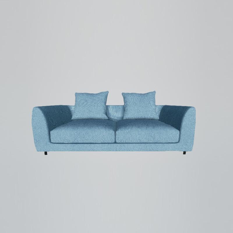 美持家具现代双扶三位沙发RS073#