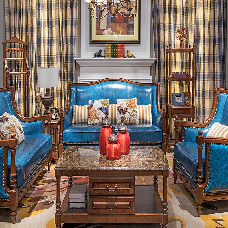 森盛舒美美式沙发SFG6007A