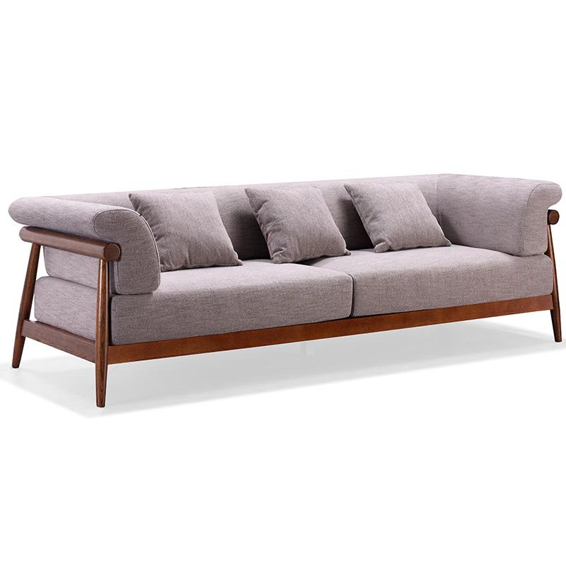 南纳鲁米北欧三位沙发K002