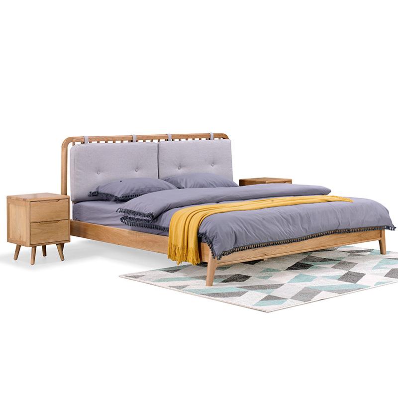 南纳鲁米北欧双人床1.8米KA06T8A 1.8米高箱床