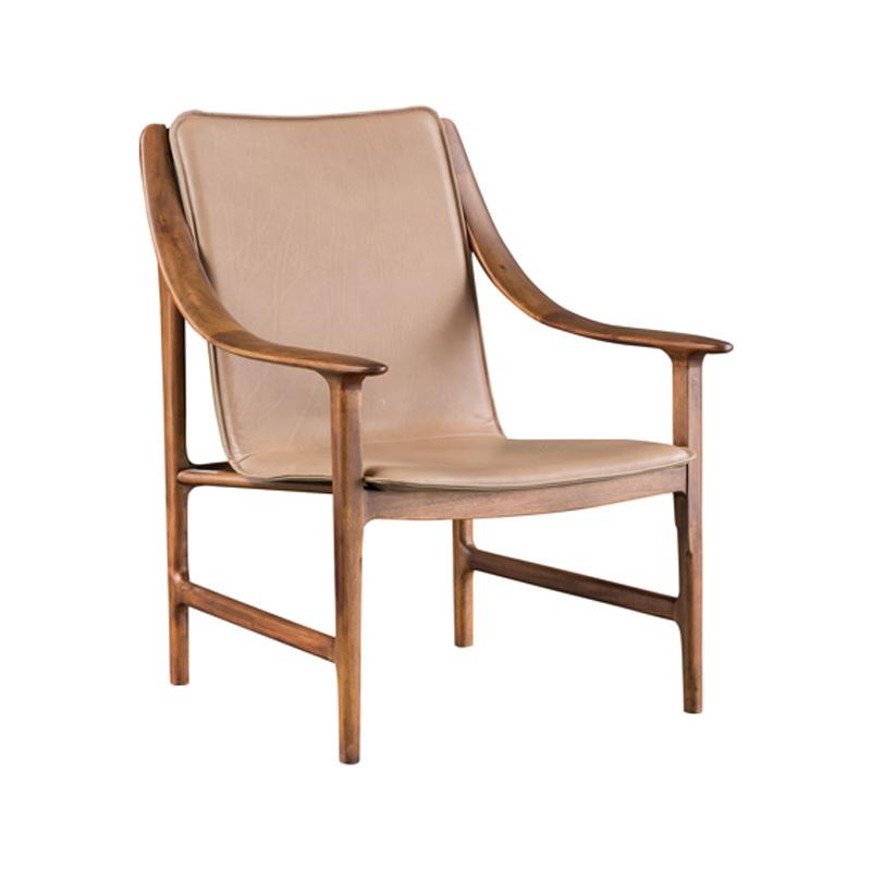宝居乐意式实木轻奢休闲椅SP302