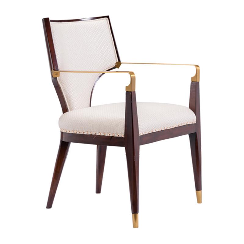 宝居乐美式轻奢扶手餐椅TP221