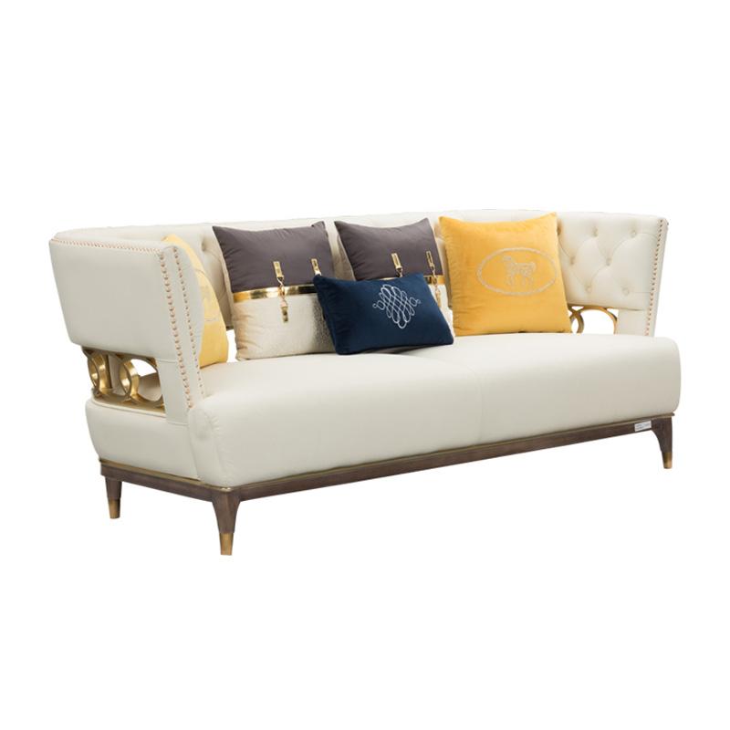宝居乐美式轻奢三位沙发TP229
